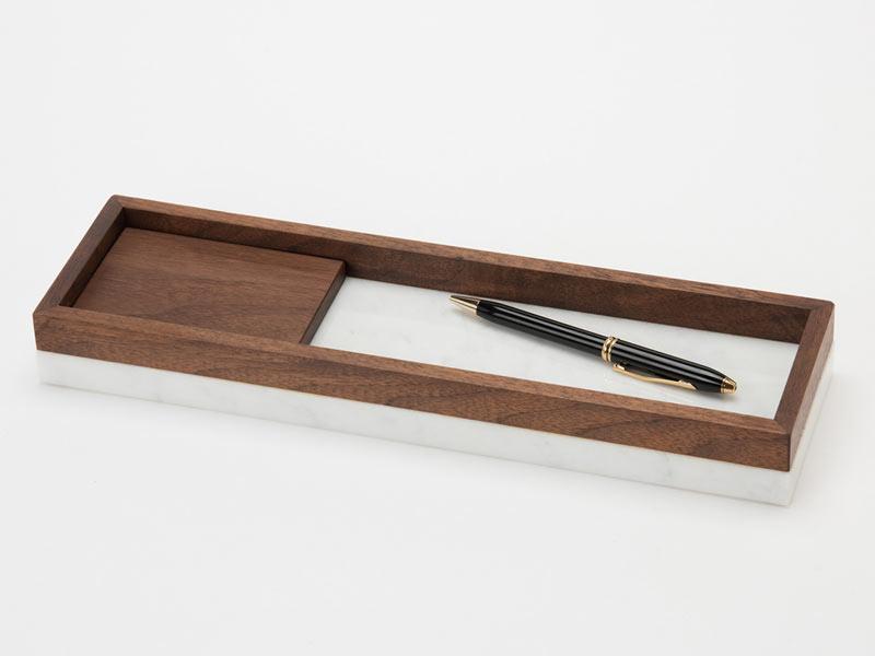 Shinabel ロングトレイ 350mm/ 中山家具 × ロングトレイ/ 350mm Colordrop Design/シィナベル 大理石とウォールナットを組み合わせた斬新なデザイン。質感も性質も大きく異なりながら、「高級感」を共通項に違和感なく融合する石と木のホームアクセサリー, 宅配マイスター:82e55800 --- djcivil.org