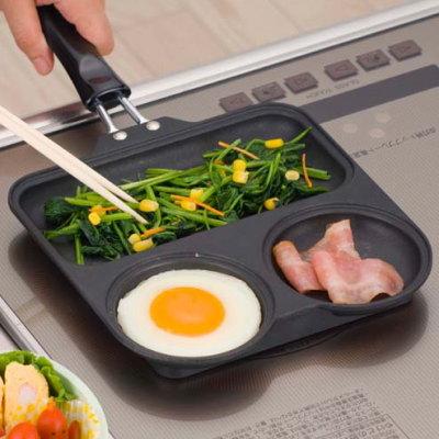 忙しい朝もこれひとつで簡単、早い!仕切り付きフライパンのおすすめは?