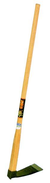 記念日 本職用本樫柄付の火造本鍛造の品です 本職用 樫1200ミリ柄付 丁能鍬 倉