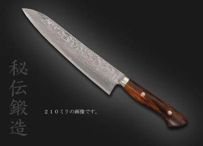 みきかじや村 秀之作 粉末ステンレス     アイアンウッド牛刀240【TS054】