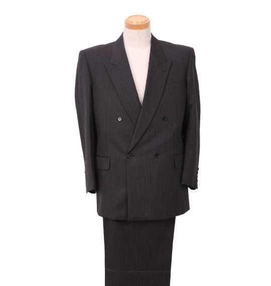 大きいサイズ メンズ ダブル4ツ釦1ツ掛スーツ(2パンツ) キングサイズ 3L/4L/5L/6L