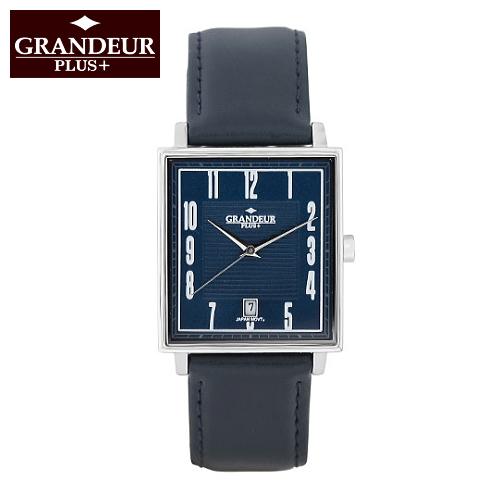デザインと高品質にこだわったメンズウォッチ スクエアケースのユニセックスウォッチ ビジネスシーンでもおしゃれに使える腕時計 ギフトにも人気 GRANDEUR PLUS+/グランドール プラス クリスマスギフト 誕生日プレゼント 20代 30代 かっこいい腕時計 おしゃれ
