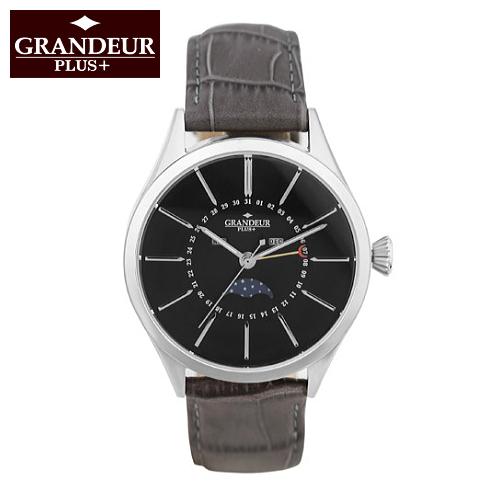 デザインと高品質にこだわったメンズウォッチ クラシカルな雰囲気のムーンフェイズ ビジネスシーンでもおしゃれに使える腕時計 ギフトにも人気 GRANDEUR PLUS+/グランドール プラス クリスマスギフト 誕生日プレゼント 20代 30代 かっこいい腕時計 おしゃれ