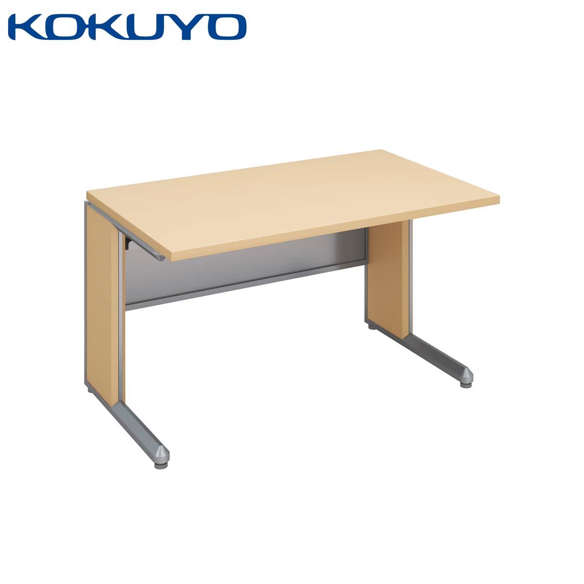 コクヨ オフィスデスク 事務用デスク FRESCO フレスコデスクシステム SD-FR128LP81P1MN4 スタンダードテーブル スリットタイプ 幅120×奥行80cm