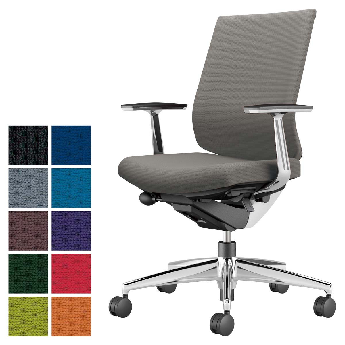 最適な材料 コクヨ デスクチェア オフィスチェア 椅子 椅子 Wizard3 ウィザード3 CR-A3661E1 アルミ肘 アルミ肘 ホワイトシェル デスクチェア アルミポリッシュ脚 -v フローリング用キャスター, わくわく生活:9c63fafa --- odishashines.com