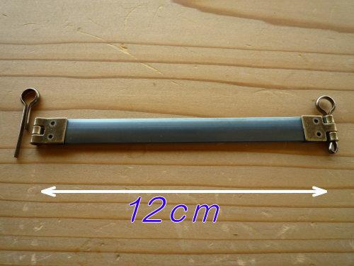 ジャスミン バネ口金 7002 丸型ピン付 12cm 年末年始大決算 完売 C3-8 アンティークゴールド