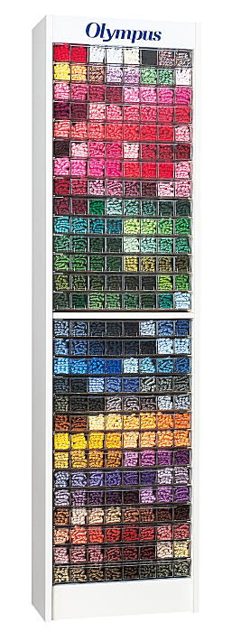 【オリムパス 224-A】刺しゅう糸ディスプレイ什器付 刺しゅう糸25番糸全434色×6本 メーカー直送【C3-8】