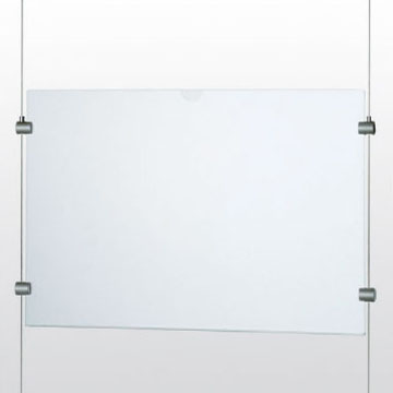 パネルハンガーフレームレスタイプ A4ヨコ型 φ1.0~1.2用 PPH-A4YNG 291301 アラカワグリップ