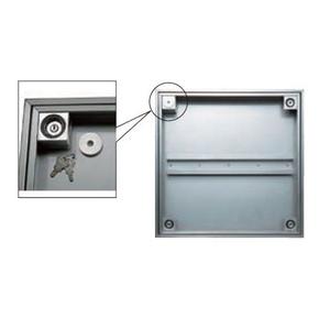 ダイケン 防水点検口 FSMPD45KH アンダーハッチ 45cm 枠、蓋ステン 防水・防臭タイプ 下部止水式 モルタル専用 錠付 ハンドル付