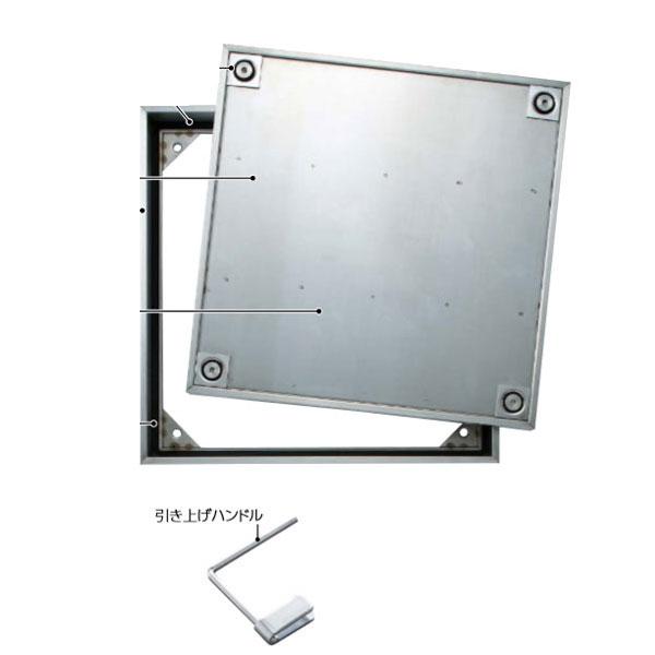 ダイケン 防水点検口 FSPPD45H アンダーハッチ 45cm 枠、底板ステン 防水・防臭タイプ Pタイル専用 ハンドル付