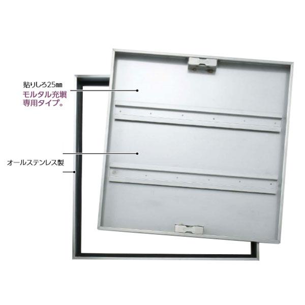 ダイケン FSRM45 アンダーハッチ 45cm 枠、蓋ステン H50 モルタル専用