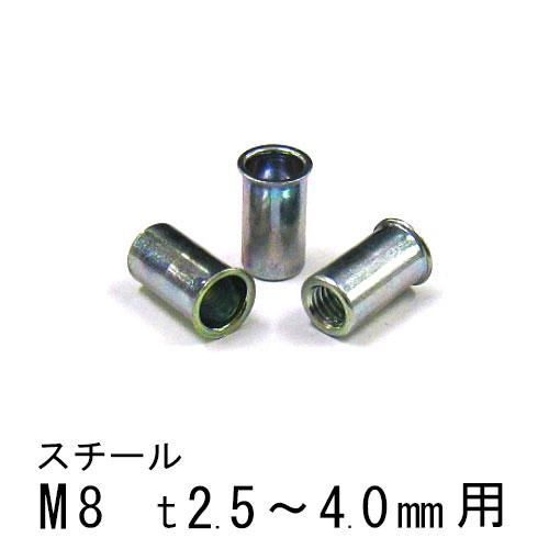 エビナット スチール Kタイプ M8 500個 NSK840M エビ
