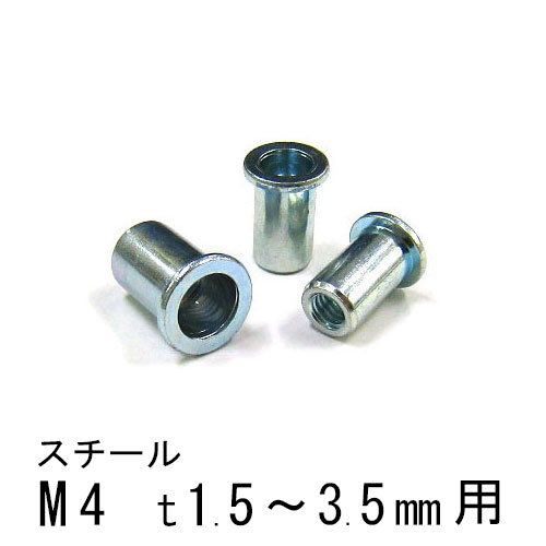 エビナット スチール Dタイプ M4 1000個 NSD435M エビ