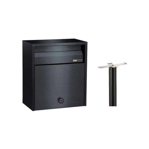 スタンド セット ステンレス ポスト 郵便受け スタンドセット 公式通販 お求めやすく価格改定 680-SBK-646SB ハッピー金属工業 スタンド埋め込み式