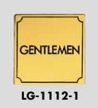 サインプレート GENTLEMEN 光 送料無料限定セール中 LG1112-1 2020