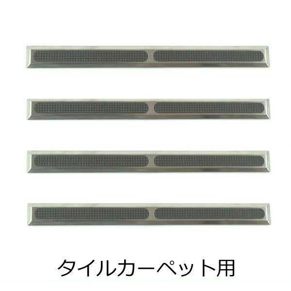 点字鋲 タイルカーペット用 樹脂 ステンレスカバー ノンスリップ樹脂 グレー 長さ 290mm RSN1T-290TC 日本ハートビル工業 4個単位