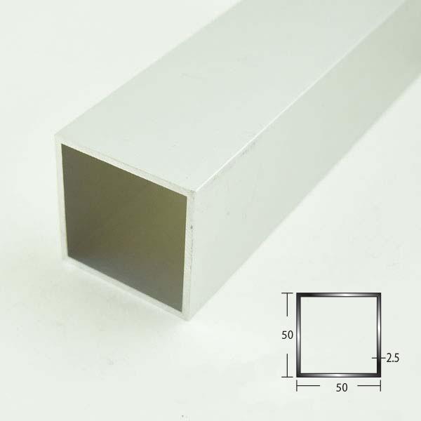 創建 アルミ角パイプ 50×50×2.5 アルマイトシルバー 2.5M