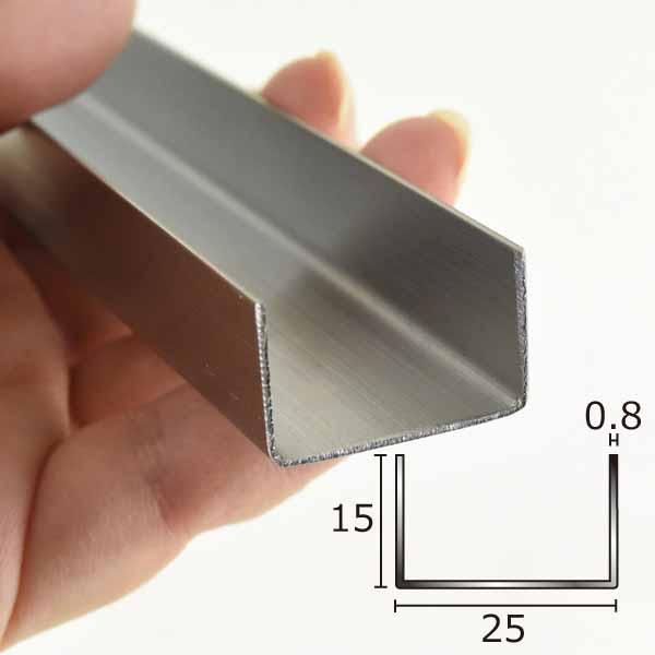 チャンネル 創建 限定タイムセール ステンレス 0.8mm 販売実績No.1 3M 15mm×25mm 63145