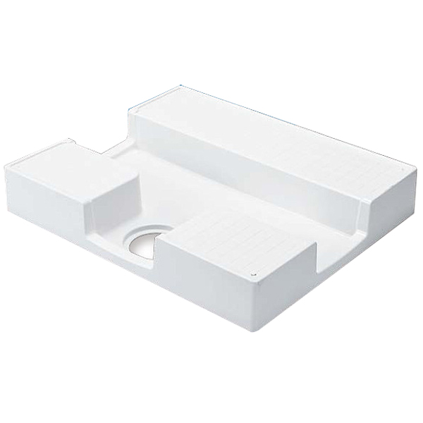 テクノテック 洗濯機防水パン TPD750-CW2 ニューホワイト(トラップ別売り) 533-209