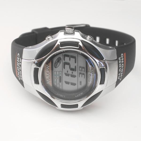 丸万MAOW柠麻太阳能男女两用手表银子&黑色MD107-01(sb)