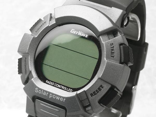 丸万MARUMAN电波太阳能表GETWAVE获得的波灰色&黑色MJW0007-GM1(sb)