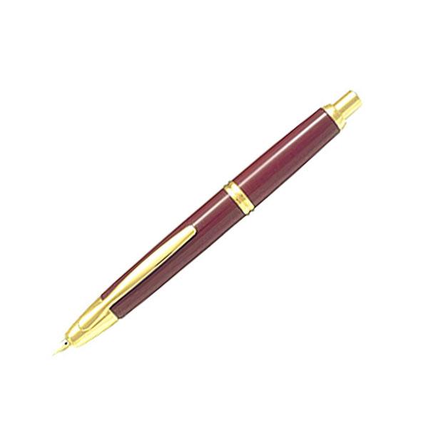 【取り寄せ品】PILOT パイロット Capless キャップレス 万年筆 ゴールドディープレッド