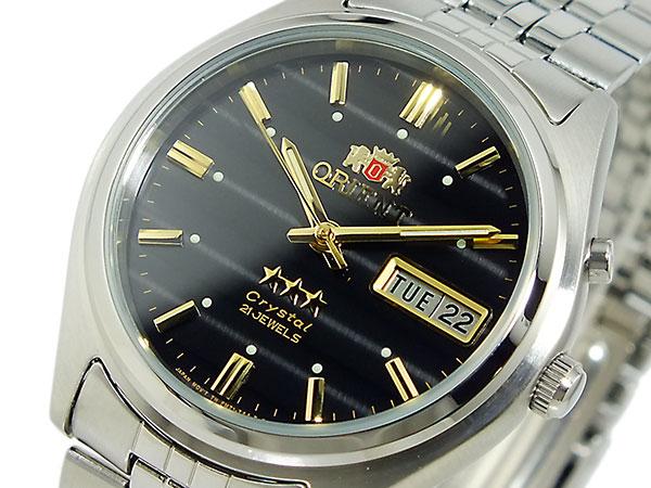东方ORIENT三明星自动卷手表WV0351EM黑色×银子