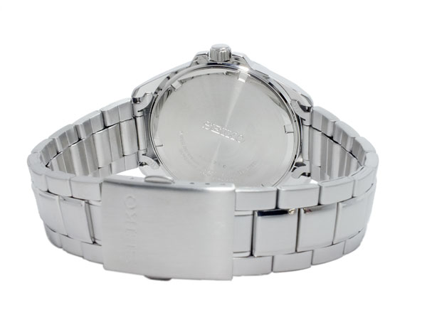 SEIKO SEIKO quartz men watch SUR061P1 black X silver