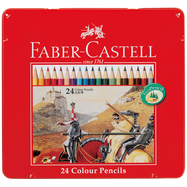 Shachihata Shachihata FABER CASTELL Faber-Castell colored pencil 24 color set TFC-CP/24 C