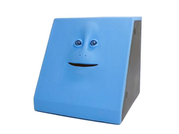 脸脸银行储蓄盒蓝色