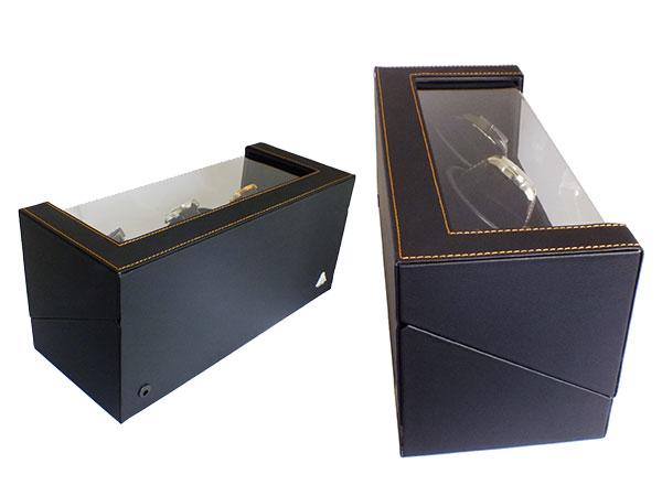 IGM 手表上链盒和绕线机 3 卷 IG-ZERO110-1 黑