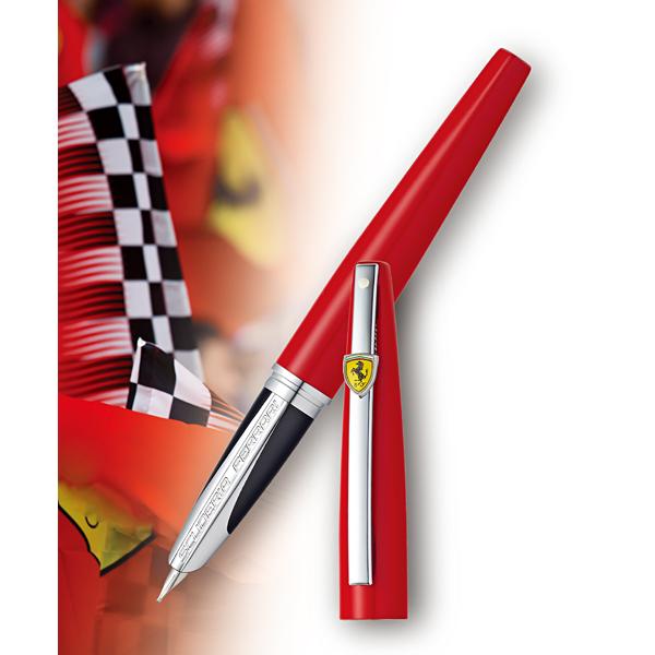 SHEAFFER Schaefer Ferrari Taranis Fountain Pen F Fine Leathered CT F9519PN