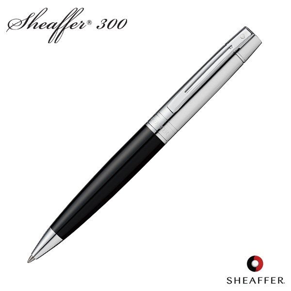 Charmant SHEAFFER Schaefer 300 Ballpoint Pen Black U0026 Chrome SGC9314BP