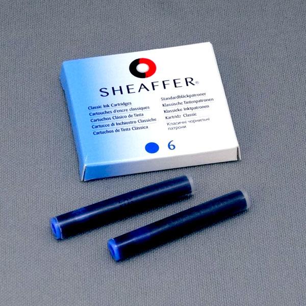 【GWも発送】SHEAFFER シェーファー インクカートリッジ ブルー ボックスタイプ 6本入【メール便可】 ブルー 6本入