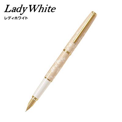 【取り寄せ品】PILOT パイロット Lady White (レディホワイト)モミジ M(中字)