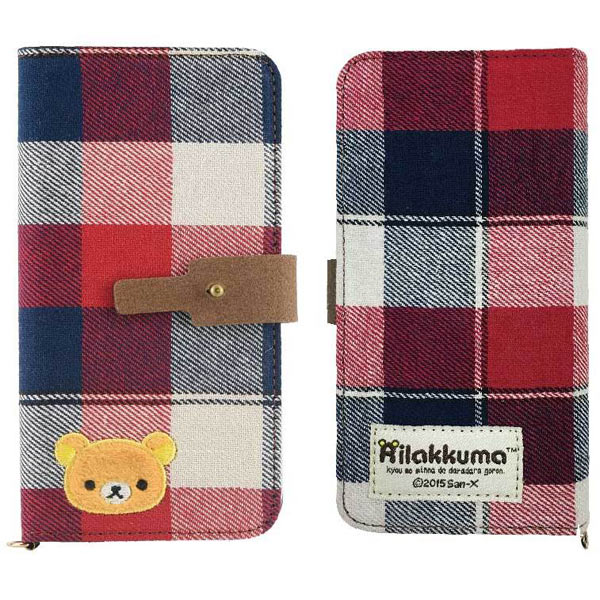 huge discount a9b4a 1a4be リラックマユニバーサル flip cover M red