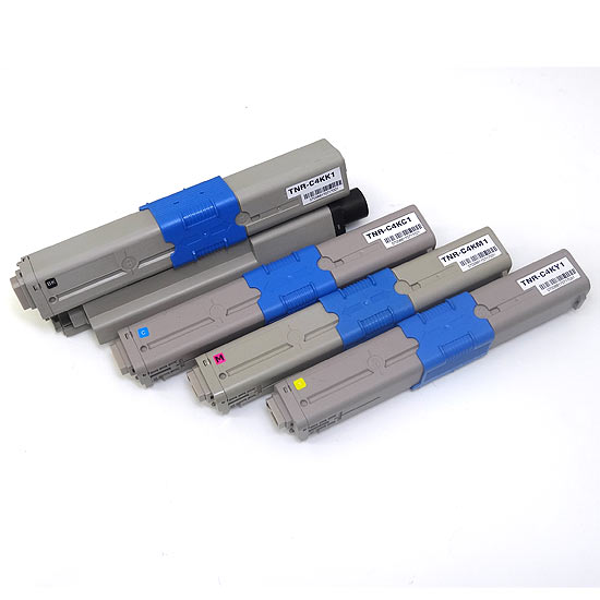 沖電気用(OKI用) TNR-C4K1 リサイクルトナー 4色セット TNR-C4KK1 TNR-C4KC1 TNR-C4KM1 TNR-C4KY1