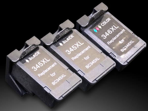BC-345XL BC-346XL キヤノン用 リサイクルインク 大容量 ブラック2個&3色カラー1個 ブラックx2&カラーx1