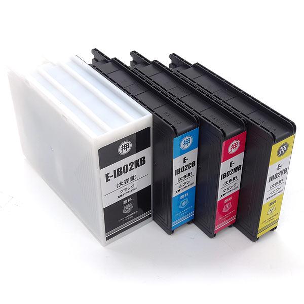 IB02 エプソン用 互換インクカートリッジ 顔料 増量 4色セット 増量顔料4色セット