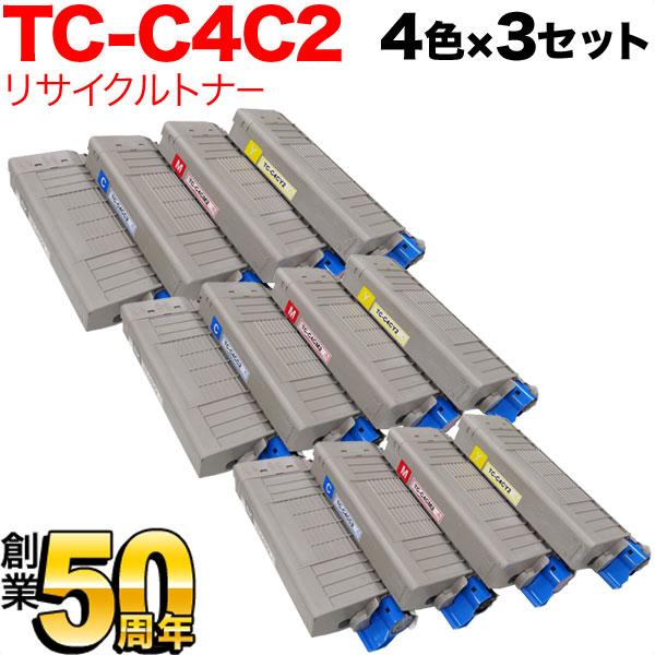 OKI C712dnw 沖電気用(OKI用) TC-C4CK2 リサイクルトナー 大容量4色×3セット
