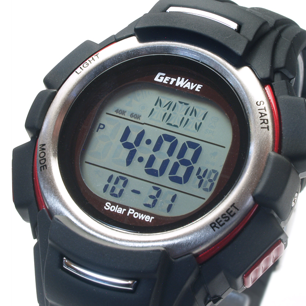 Maruman GETWAVE get wave radio solar watch Unisex Watch MJW075-05 (sb) Red
