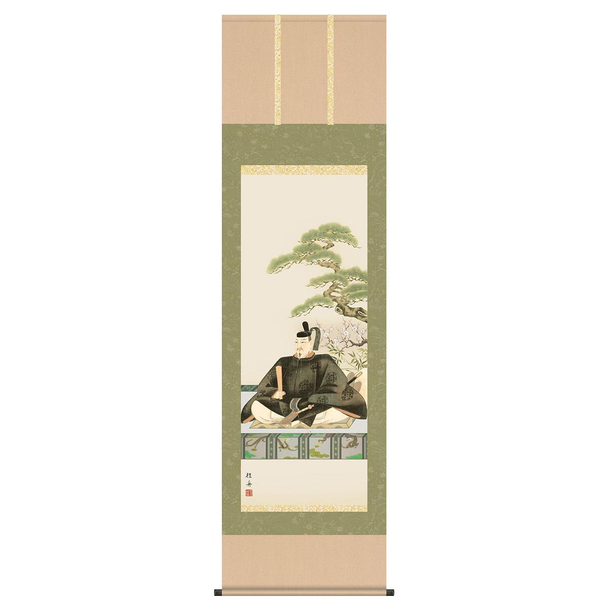 節句 正月 掛け軸 「長江桂舟(三美会)作 天神 掛け軸」2019年雛人形 ●正月飾り