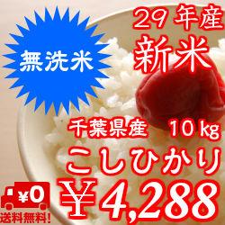 Rinse free Koshihikari rice 10 kg (5 kg x 2 ) delicious ♪ without hassle! Chiba Prefecture from * regional there exclusion * Shikoku +400 Yen, Hokkaido and Kyushu ¥ 600 per 20μ