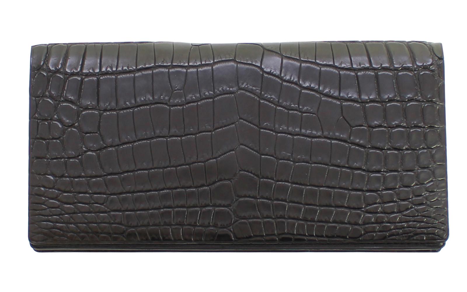 クロコダイル 長財布 メンズ財布 紳士用財布 日本製 超高級 BAMBI ワニ革 ギフト プレゼント用