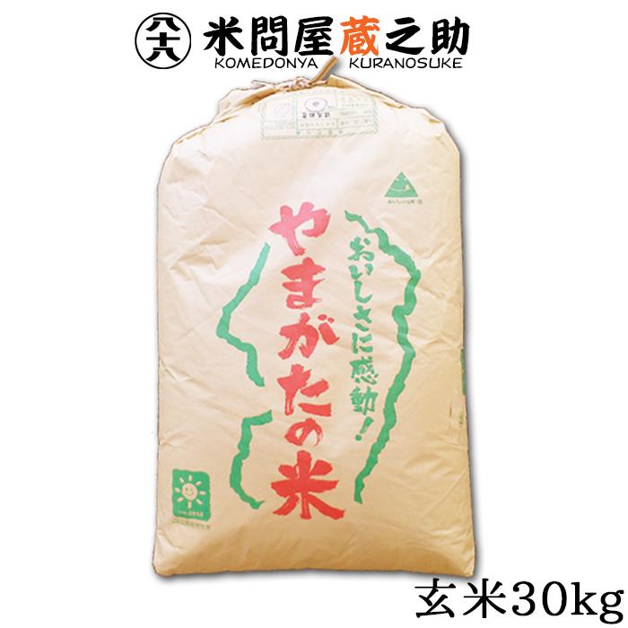 玄米 山形産 はえぬき 30kg 送料無料 (一部地域除く)29年産