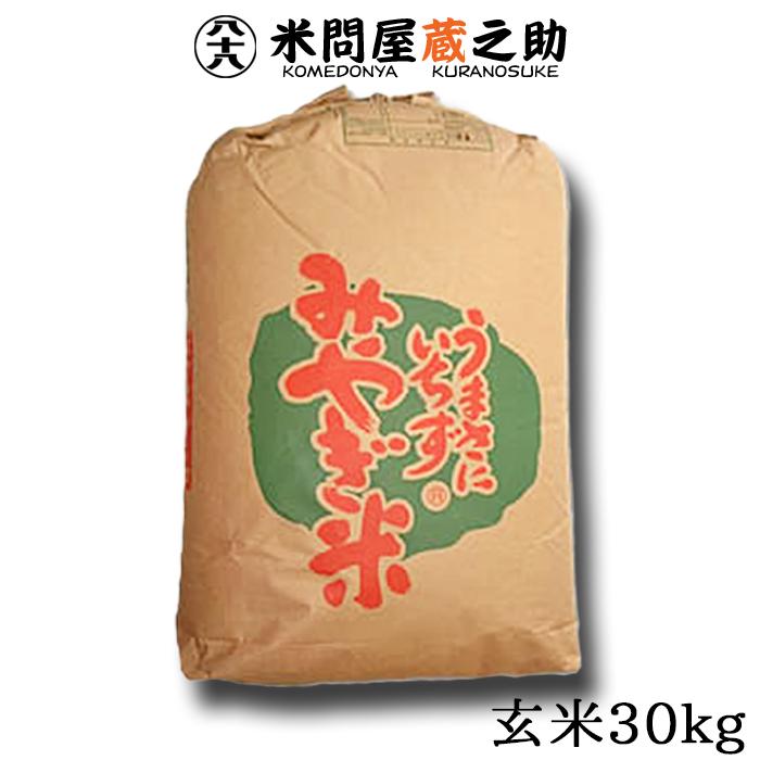 ササニシキ 宮城県産 玄米 30kg【送料無料(一部地域除く)】