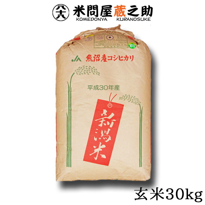 【SAランク限定】 北魚沼産 コシヒカリ 30年産 玄米 30kg 【送料無料(一部地域除く)】