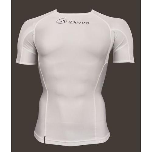 【メール便可】DORON×phiten(ドロン×ファイテン) ソフトシリーズ MEN'S ショートスリーブシャツ ホワイト