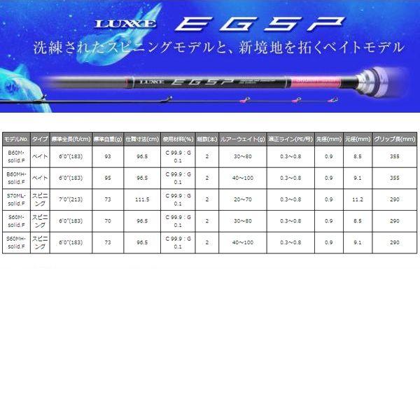 ラグゼ【ティップランロッド】EG-SP B60M-solid.F