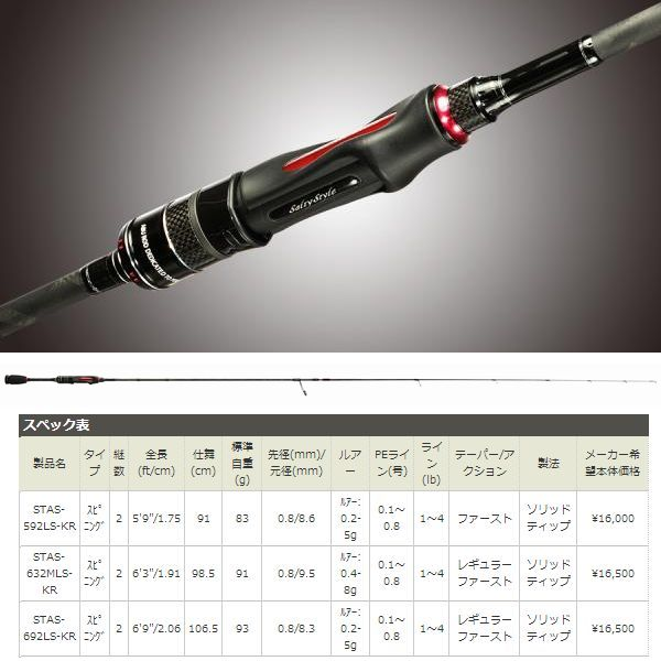 AbuGarcia Salty Style AJING(ソルティースタイルアジング) STAS-692LS-KR